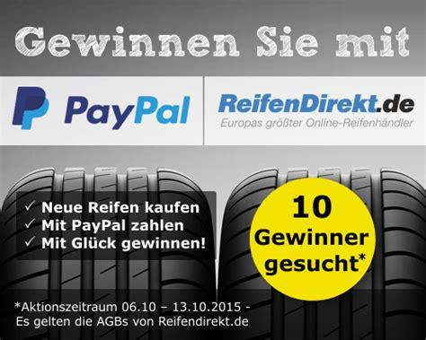 Motorradreifen Kosten by Mit Reifendirekt Und Paypal Gewinnen Reifen