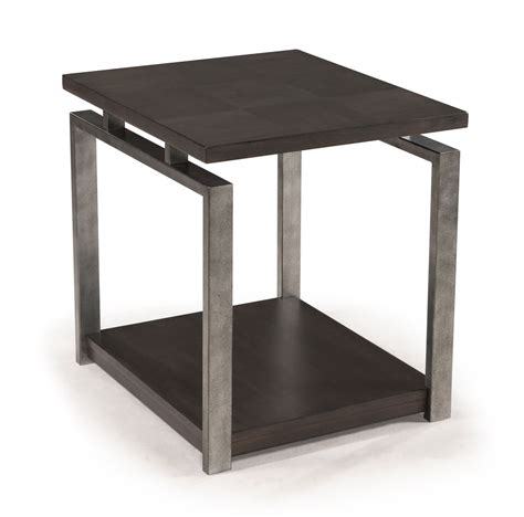 Rectangle End Table by Alton Rectangular End Table Platinum Charcoal Gun Metal