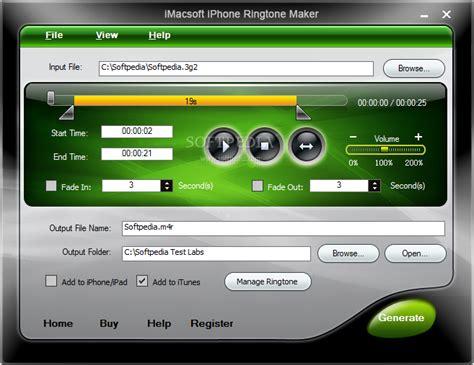 iphone ringtones imacsoft iphone ringtone maker