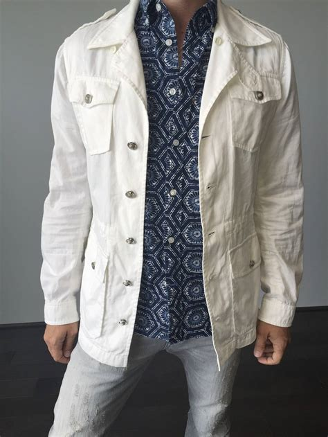 Safari Jacket White s balenciaga by nicolas ghesquiere white drawstring safari jacket at 1stdibs