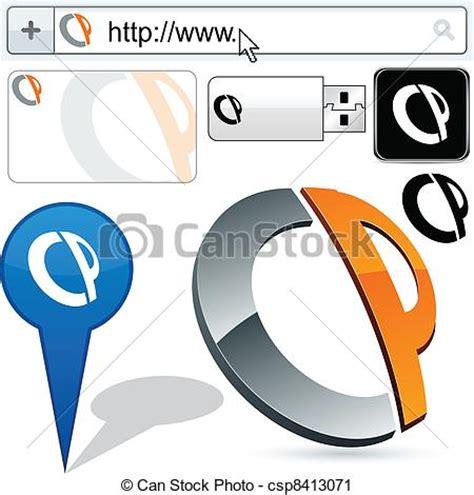 Cp Abstrak vector clip of business cp abstract logo design