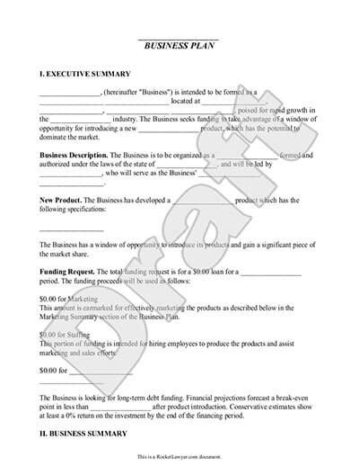Business Plan Template Make Your Own Business Plan Rocket Lawyer Llc Business Plan Template