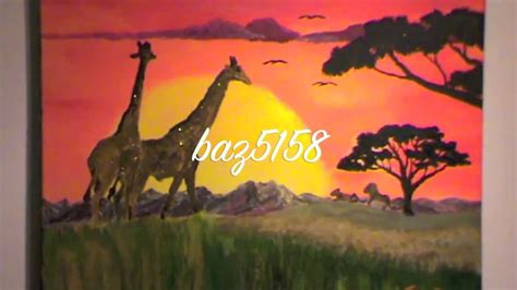 how to paint how to paint an african sunset youtube