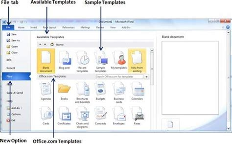 Use Templates In Word 2010 Microsoft Word 2010 Templates