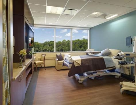 wesley emergency room patient rooms on the exterior an abundance of light and wetland views all rooms