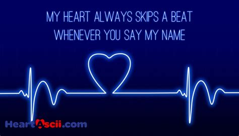 my or my my always skips a beat whenever you say my name