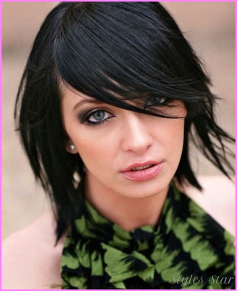 edgy haircuts with bangs long hair edgy medium length haircuts stylesstar com