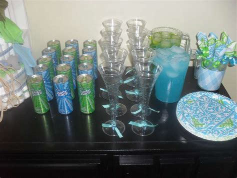 Blue And Green Baby Shower Decorations by Turquoise Lime Green Baby Shower Ideas Photo 8