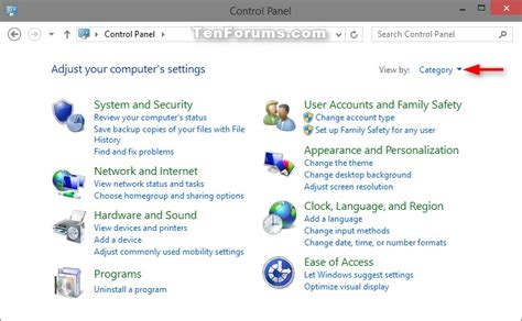 windows 10 control panel tutorial control panel open in windows 10 windows 10 general