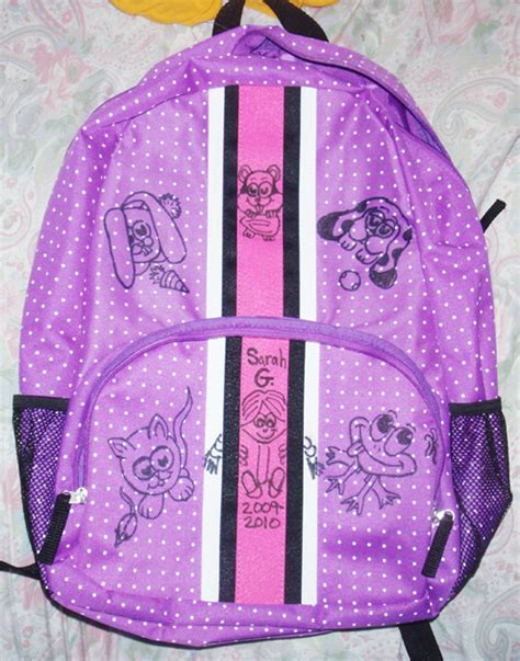 How To Decorate A Backpack With Sharpie by Personalize Decorate Your School Book Bags Backpacks