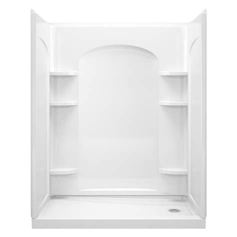 Kommode 60 X 60 by Shop Sterling Ensemble White 4 Alcove Shower Kit