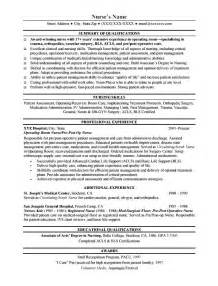 Resume For Nurses Free Sample Nurse Resume Sample