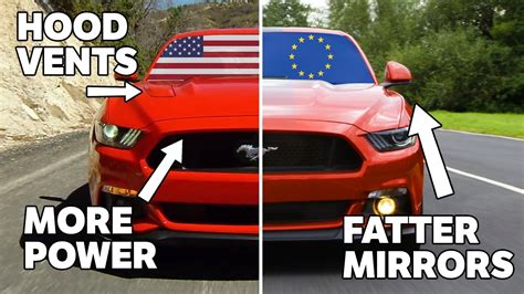 car price difference in different states 10 differences between european and us spec mustangs