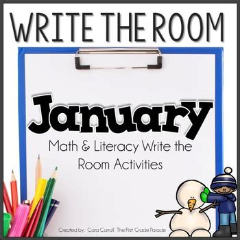 write the room write the room january by cara carroll teachers pay teachers