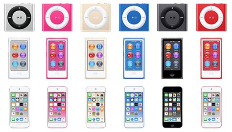 ipod touch colors apple rumored to announce new ipod touch nano and shuffle