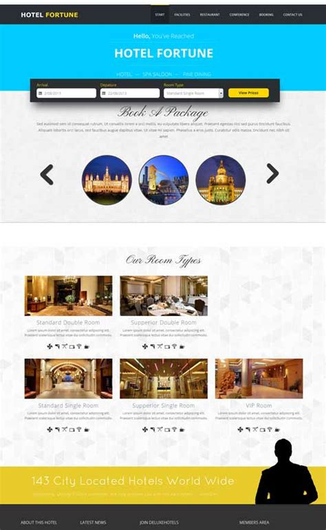free bootstrap templates for resorts 70 best hotel website templates free premium