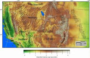 elevation map southwest us map of colorado topographic