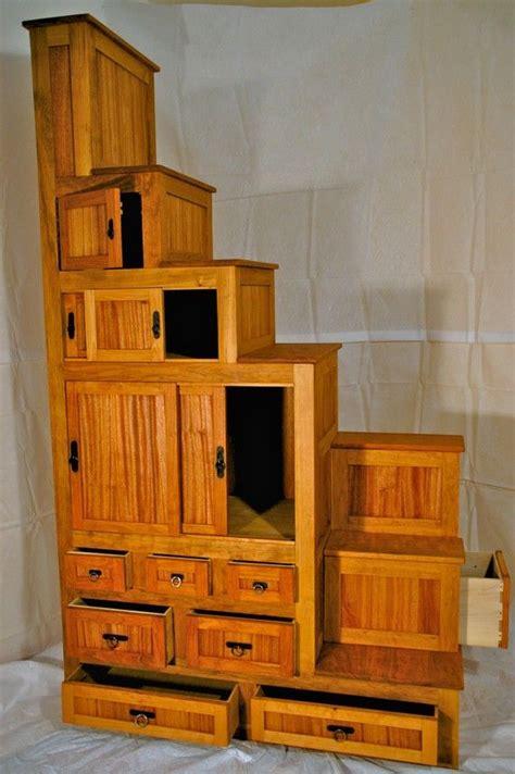 japanese tansu furniture kaidan dansu step chest cherry