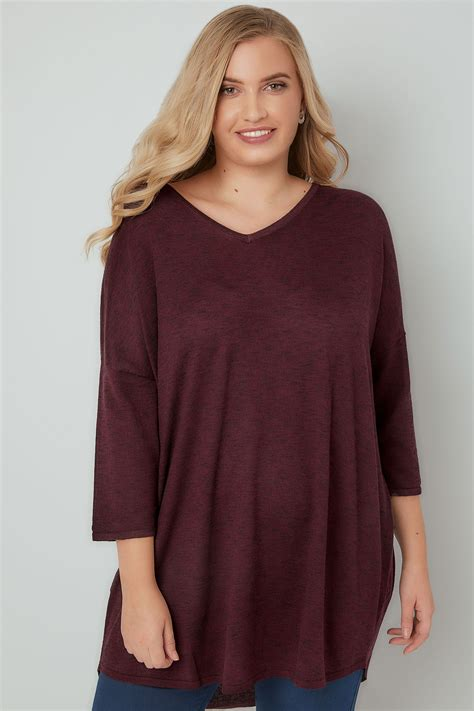 Swager Size 27 Burgundy burgundy longline knitted top with cross straps plus size 16 to 36