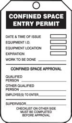 confined space card template osha confined space certification course