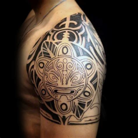 puerto rican tattoos for men tribal quarter mens sleeve taino of sun ink