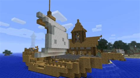 how to build a boat in minecraft xbox 360 minecraft tutorial how to build a medieval ship small