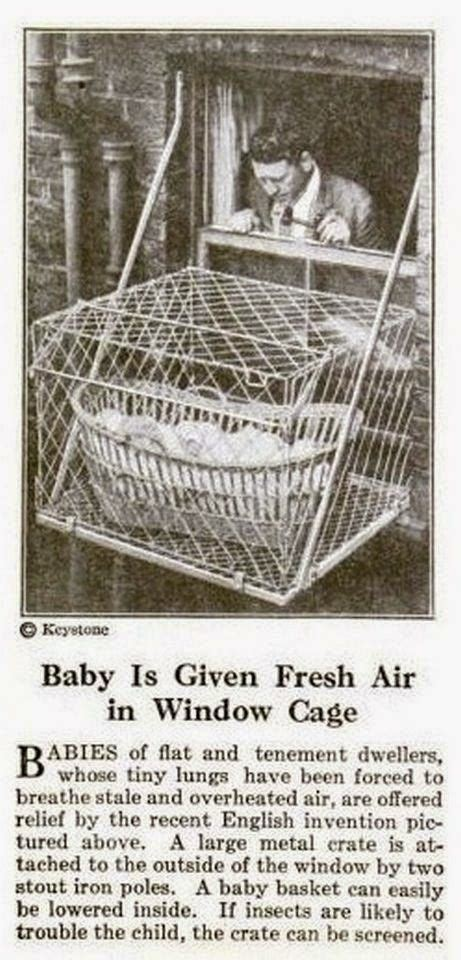 vintage everyday incredible pictures  baby cages