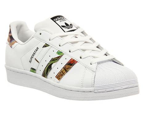 co de fiori scarpe mens adidas superstar 1 white floral print w trainers