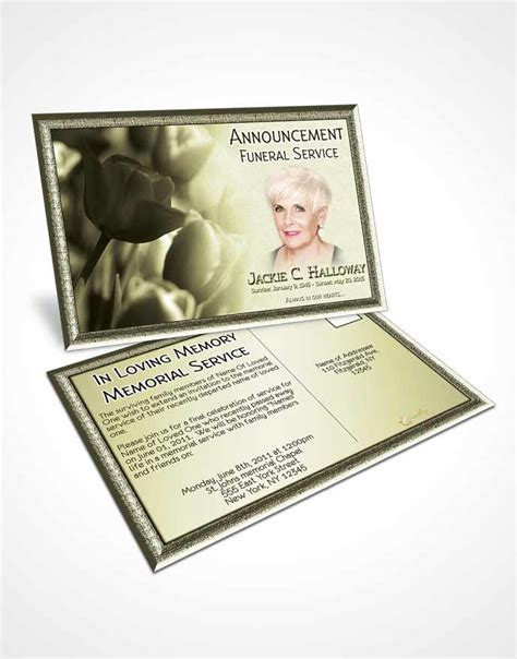 funeral announcement cards templates bifold order of service obituary template brochure rustic
