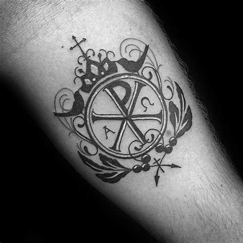tattoo christian symbols 50 chi rho tattoo designs for men christian symbol ink ideas