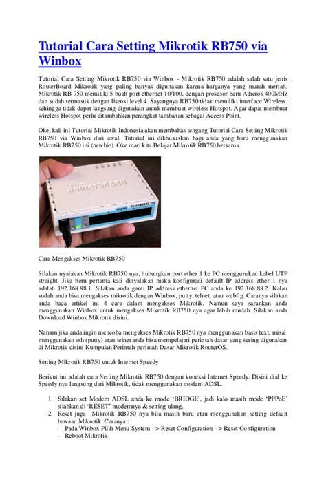cara membuat hotspot dengan mikrotik rb750 tutorial cara setting mikrotik rb750 via winbox