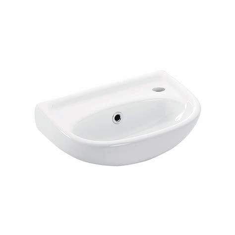 basic 4000 ceramic wall mounted bathroom sink 15 5 modo bath