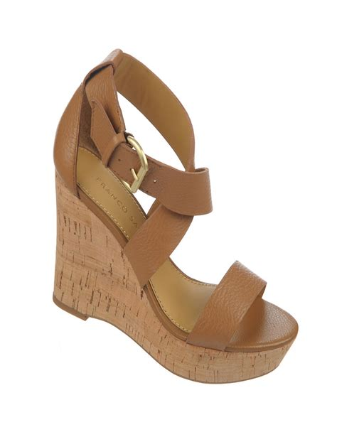 franco sarto brown sandals franco sarto sitar leather wedge sandals in brown camelot