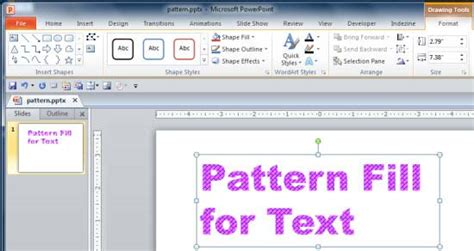 powerpoint shape pattern fill pattern fill for text in powerpoint 2010 powerpoint