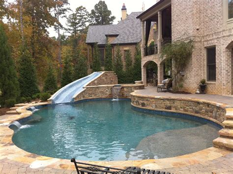 Backyard With A Pool Backyard Oasis Pools Free Form Pool St Marlo
