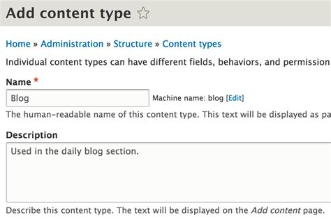 Build A Blog In Drupal 8 Content Types And Fields Webwash Drupal 8 Page Template For Content Type