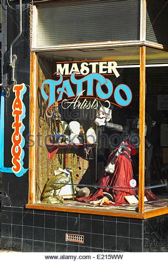tattoo prices hastings tattoo shop george street hastings old town uk stock photo
