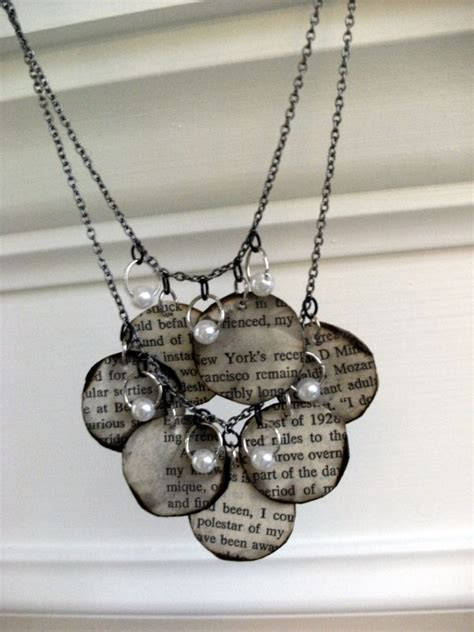 How To Make Necklace With Paper - 15 creative diy projects featuring recycled books