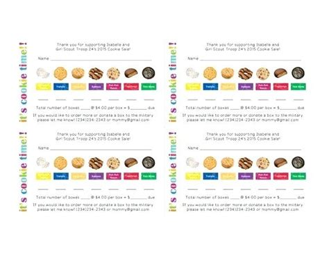 scout cookie receipt template scout cookie receipt template scout cookie order