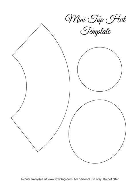 top hat template for mini top hat template pdf steam cyper