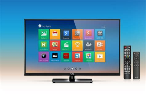 Tv Android 32 vu launches 32 inch android 4 4 2 kitkat based led tv at