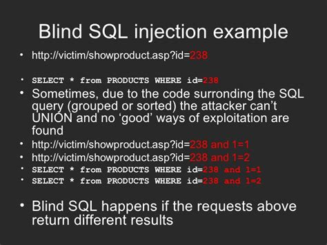 blind sql injection optimization techniques