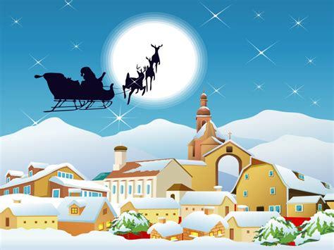 imagenes de navidad fondos de pap 225 noel repartiendo regalos fondos de