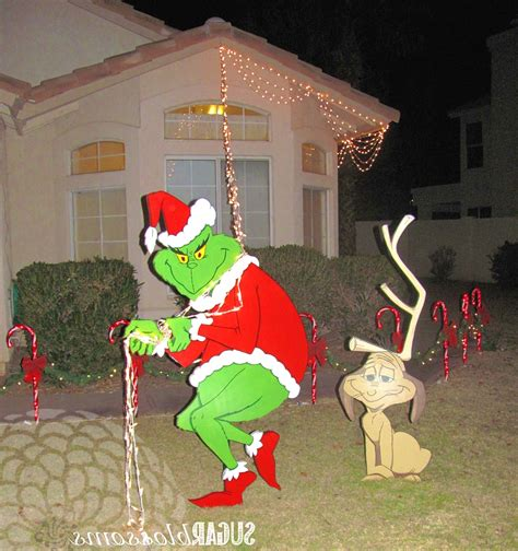 grinch outdoor christmas decorations