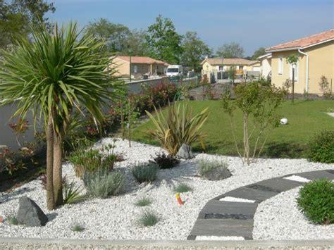 idee decoration jardin mineral avec palmier galerie