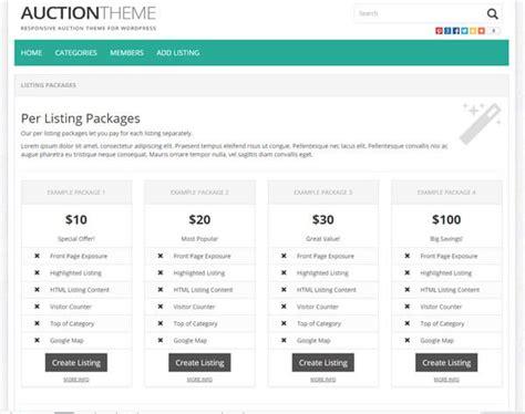 listing themes wordpress free wordpress auction theme premiumpress themes