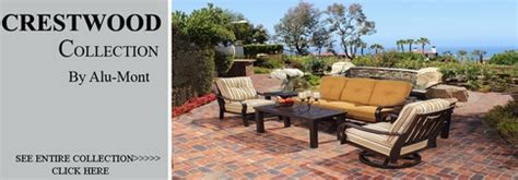 Alumont Patio Furniture View All Alu Mont Collection Crestwood Patio Furniture Seating Sets