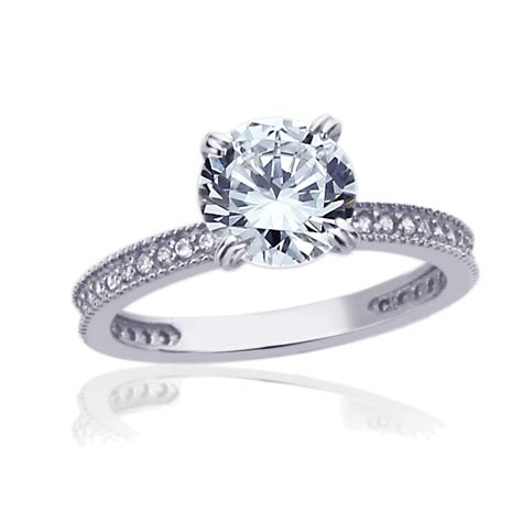 7 Engagement Rings From Since1910 by 7 5mm 14k White Gold 1 5 Carat Cz Solitaire