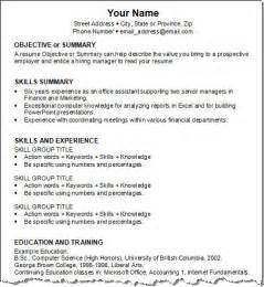 Job Resume Pattern by Resume Patterns For Freshers