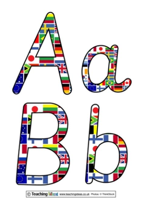 Flags Of The World Lettering | global geography teaching ideas